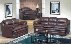 Sofa Set - 3 Piece - Chocolate 3 pc Set / Chocolate