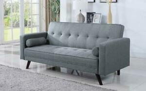 Fabric Sofa Bed with Arm Rest - Light Grey Light Grey