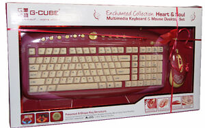 Wired Fashion Keyboard and Mouse by G-Cube