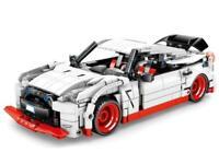 Sembo 701712 Rennauto in weiß rot Pullback Klemmbausteine Auto Technik NEU