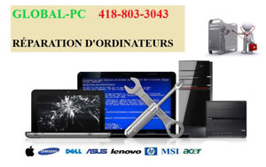 Dépannage informatique GLOBAL-PC évaluation gratuite