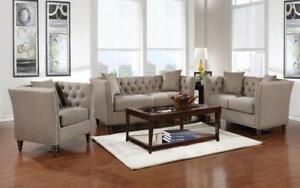 Sofa Set - 3 Piece - Beige Beige
