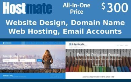 $300 Website Package: Design, Domain, Hosting & Emails