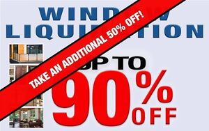 TAKE AN ADDITIONAL 50% OFF - WINDOW CLEARANCE