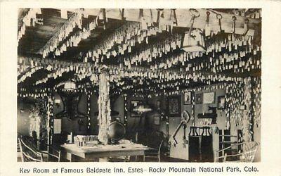 Baldpate Inn  Key Estes Park Colorado 1930s Rocky Mountain RPPC Park 9621