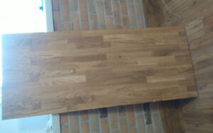 Solid wood butcher block top..62 x25 and half inch