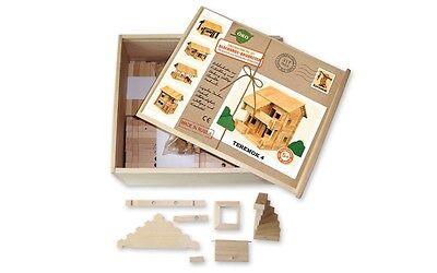 Holzbaukasten Blockhaus Teremok 4, 317 Teile