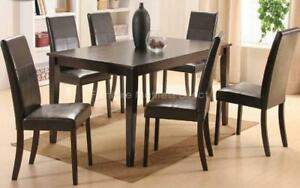 ***BLOWOUT SALE****SOLID WOOD DINING SET WITH 6 CHAIRS****LOWEST PRICES