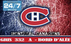 BILLETS SAISON CANADIENS DE MONTRÉAL - GRIS 332 A - BORD D'ALLÉE