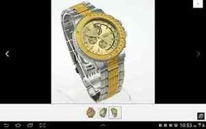 Gold Luxury Man Wristwatch Stainless Steel Xmas New100% London Ontario image 1