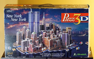Wrebbit Puzz 3D New York, New York Twin Towers Puzzle