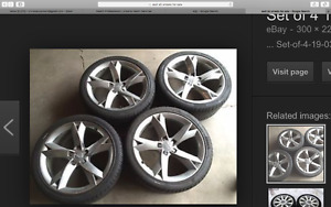 5x112 Audi A5 OEM rims and tires x4 for sale