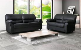Black 3+2 Candy Leather Sofa Sale