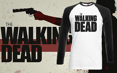 The Walking Dead Horror Zombie Tv Show Comic Rick Daryl T-Shirt Long Sleeve New