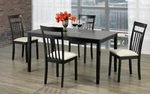 Kitchen Set with Solid Wood - 5 pc or 7 pc - Espresso 5 pc Set / Espresso