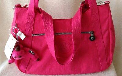 NWT Kipling Waylon, #HB7039, 688-Vibrant Pink w/ Furry Monkey