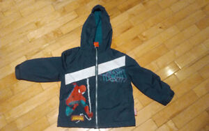 Spiderman spring coat for toddler boy - size 3