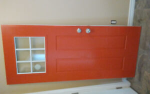 34 inch outside door like new. 2 colour orange out white inside