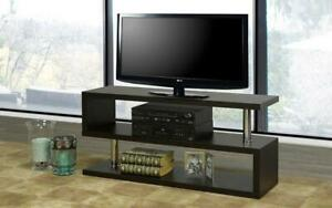 TV Stand with Shelves - Espresso Espresso