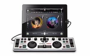 Ion i-DJ2GO DJ Contrôleur Portable pour iPhone/iPad Noir Neuf