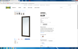 IKEA MIRROR ONLY $25 Wiley Park Canterbury Area Preview
