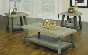 Coffee Table Set with Shelf - 3 pc - Oak Oak