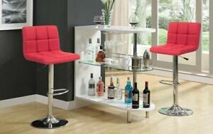 Bar Set with Stools - 3 pc - Grey | Charcoal | Black | Red 3 pc Set / Red