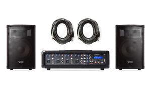 BRAND NEW ALESIS PA SYSTEM IN A BOX BUNDLE 280-WATT (80 WATTS CO