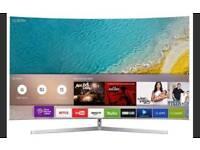 "Samsung 55"" UE55KU6670 Freeview HD, Smart, 4K Ultra HD HDR Certified Curved TV"