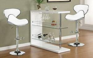 Bar Set with Stools - 3 pc - Red | White | Black | Espresso 3 pc Set / White