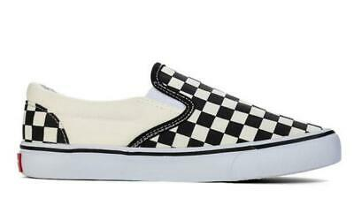 UK Mens Womens Summer Van s Classic Checkerboard Slip-on Shoes Black White Plaid