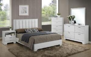 Dresser & Mirror + Chest - 05 Dresser + Mirror / White / Wood