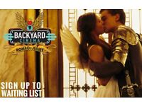 Two tix to sold out Backyard Cinema 'Romeo & Juliet' on 27 March 2018