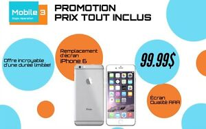 Réparation iPhone 6 Plus 99.99$ tout inclus