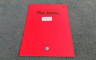 1982 VW JETTA UK BROCHURE C C DIESEL CL GL Dealer Stamp