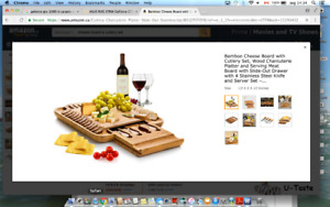 Bamboo Cheese Board with Cutlery