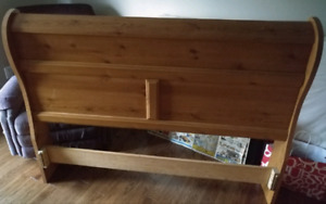 Queen size sleigh bed headboard and footboard