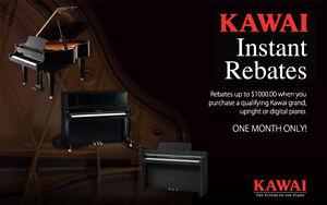 Hurry, KAWAI Instant Rebates Up to $1000.00