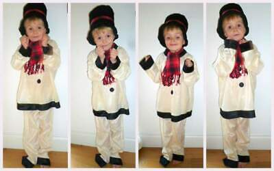Costumes With C (Child's Snowman Costume with Hat and Scarf - Fancy Dress - Cream -)