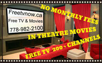 FREE TV--INTHEATRE MOVIES AND PPV....YES REALLY