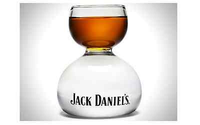 Jack Daniels Whiskey on Water Chaser Jigger - Large 2 oz on 4 oz Bomb Shot Glass - Jack Daniels Chaser Jigger
