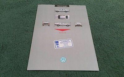 December 1985 VW JETTA TX UK FOLDER BROCHURE 1986 Model Year - Hayselden Sticker