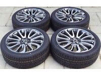 """NEW 22"""" GENUINE RANGE ROVER STYLE 7 ALLOY WHEELS & NEW CONTINENTAL TYRES"""