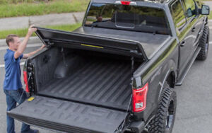 F150 15-18 Tri Folding Leather Tonneau Cover 5.5Ft Bed!!