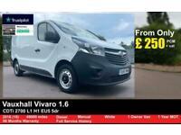2016 Vauxhall Vivaro 1.6 CDTi 2700 L1 H1 EU5 5dr PANEL VAN Diesel Manual