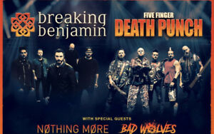 2 Breaking Benjamin and Five Finger Death Punch concert tickets
