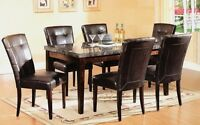 Boxing Day Sale - MARBLE TOP,WOODEN.GLASS DINING TABLE SET ST