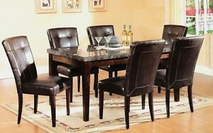 Spring blowout sale- MARBLE TOP,WOODEN.GLASS DINING TABLE SET ST