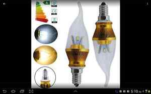 6xE14 LED SMDs Candle Bulb Day White Light Candelabra Lamp