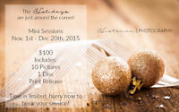 Mini Sessions Available: Holiday & Family Portraits